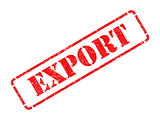 Export on Red Rubber Stamp.