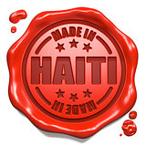 Made in Haiti - Stamp on Red Wax Seal.
