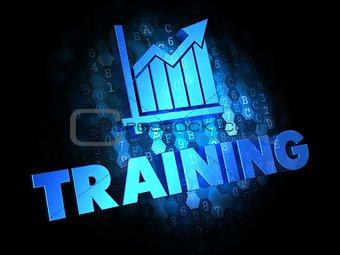 Training Concept on Digital Background.