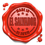 Made in El Salvador - Stamp on Red Wax Seal.