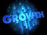 Growth on Digital Background.