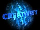 Creativity on Digital Background.