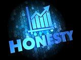 Honesty Concept on Digital Background.