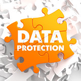 Data Protection on Orange Puzzle.