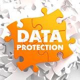 Data Protection on Orange Puzzle.