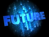 Future on Digital Background.