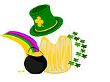 beer hat gold rainbow clover