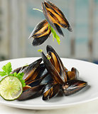 Mussels  With Garlic Sauce