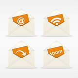 Envelope icon mail template