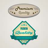 Retro vintage premium web design elements