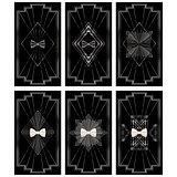 card bow tie Nouveau