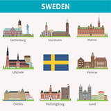 Sweden. Symbols of cities