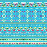 Tribal ethinc ztec seamless pattern on blue background