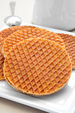 stroopwafels, typical dutch cookies filled with syrup