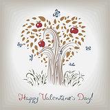 elegant valentines tree