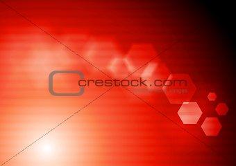 Bright red tech vector design