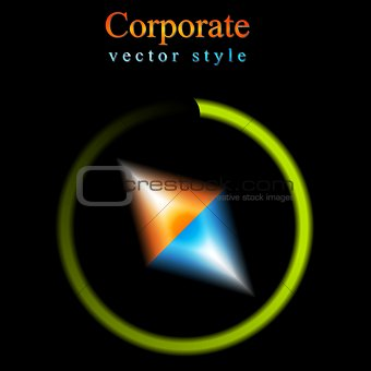 Abstract vector logo background