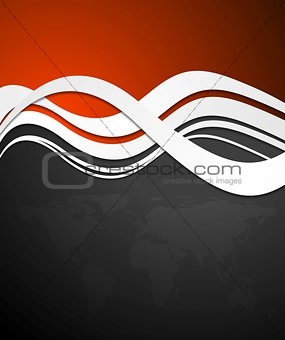 Abstract tech vector wavy background