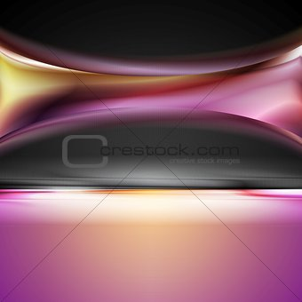 Abstract bright vector wave design