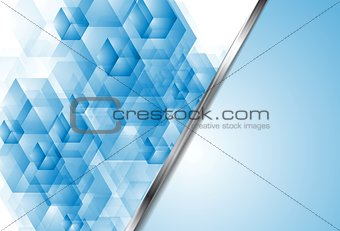 Bright blue tech vector backdrop