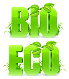 Bio and Eco words.