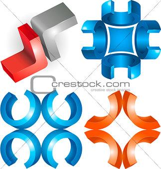 3d sign or symbol graphic design
