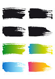 paint brush stroke frames, vector
