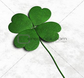 Four-leaf clover on the ground