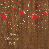Valentines Wooden Panel