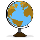 Cartoon globe
