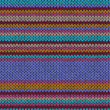 Seamless Light Color Striped Knitted Simple Pattern