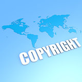 Copyright world map
