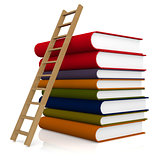 Ladder and book
