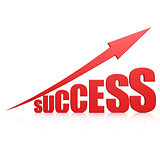 Success red arrow