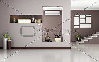 Beige and brown modern interior