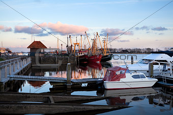 fishing ships at harbor, Zoutkamp