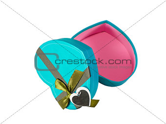 Blue  Heart shaped box
