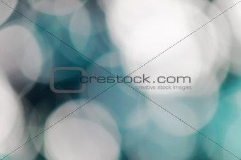 Blue bokeh abstract