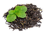 Fresh mint and dried tea