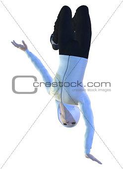 3D man in a jump