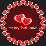 "Design heart background with words ""Be my Valentine"""