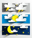 Cartoon Weather Banners