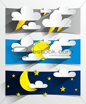 Cartoon Weather Banners