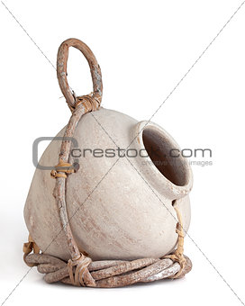 Clay Jug and Twig Birdhouse