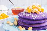 Hawaiian taro pancakes