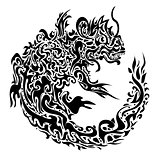 dragon black tattoo