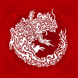 dragon white tattoo
