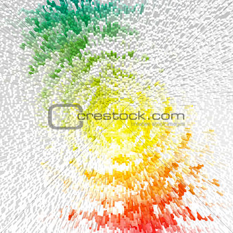 Abstract multicolor radiate outburst.