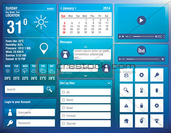 flat design elements for mobile app