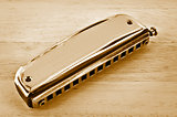Old harmonica.